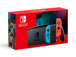 Nintendo Switch with Neon Blue and Neon Red Joy-Con Black Friday 2021